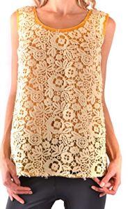 Miu Miu Femme Mcbi36152 Jaune Polyester Top