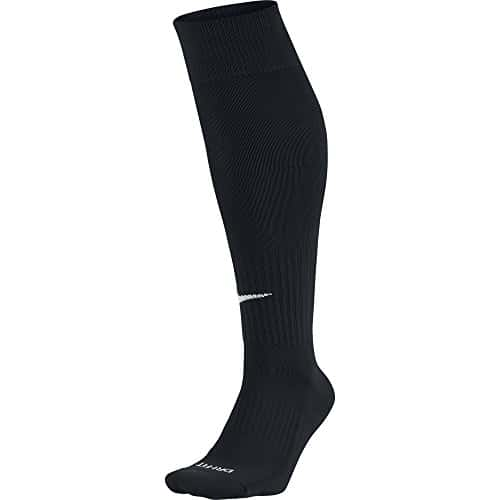 Nike – SX4120 – Chaussettes de football – Mixte adulte – Multicolore (Black/White) – L (Taille fabricant: 42-46)