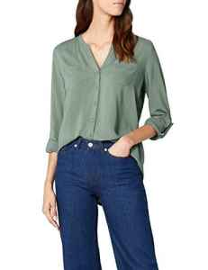 ONLY Onlfirst Ls Pocket Shirt Noos Wvn, Blouse Femme, Vert (Laurel Wreath Laurel Wreath), 42