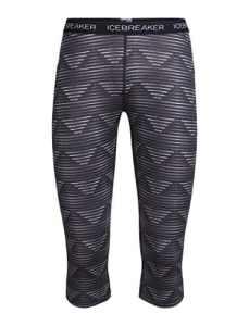 Icebreaker WMNS Oasis Legless Diamond Line Pantalon Fonctionnel XL Blizzard HTHR/Black