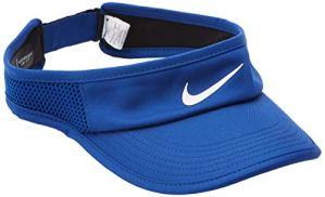 Nike W NK AROBILL FTHRLT Visor ADJ Chapeau Femme, Indigo Force/White, FR Unique (Taille Fabricant : MISC)