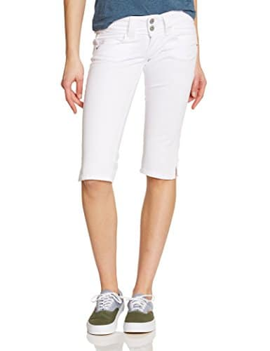 Pepe Jeans Venus Crop, Short Femme, Blanc (White) – W27 (Taille fabricant: 27)