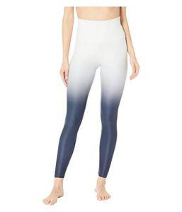 au-delà du Yoga pour Femme Spacedye Ombre Midi Taille Haute Legging 7/8Longueur, Femme, SD3243OM, Glacier White Nocturnal Navy Ombre, Petit