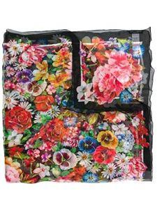 Dolce E Gabbana Femme Fs182agdn53hnaa6 Multicolore Soie Foulard