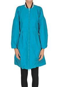 ERMANNO SCERVINO Techno Fabric Raincoat Woman Turquoise 40 IT