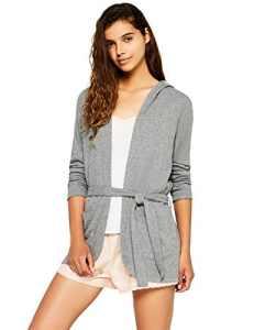 Iris & Lilly Comfy Lounge Jersey-17AY59A Haut De Pyjama Femme – Gris (Grey) – X-Large
