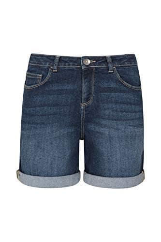 Mountain Warehouse Short en Jean pour Femme – Léger, Respirant et Multi-Poches – pour la Plage et l'été – Idéal pour Les Vacances, la Marche et la Piscine Denim 40