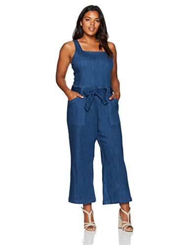 RACHEL Rachel Roy Femme Plus Size Self Belt Overall Venetian Rinse Salopette – Bleu –