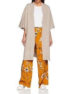 Vila Clothes Violivena Knit Cape Beige Natural Melange, 40 (Taille Fabricant: M/L) Femme
