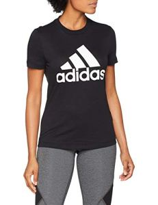 adidas W MH BOS Tee T- T-Shirt Femme, Black, FR : M (Taille Fabricant : M)