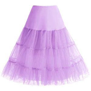 Bbonlinedress Jupon Femme Style année 50 Jupon Rockabilly 4 Tailles à Choisir Lavender L