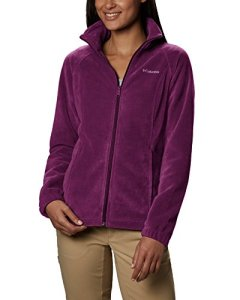 Columbia Women's Benton Springs Full Zip, Dark Raspberry, Large