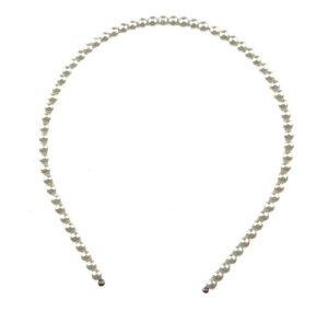 Glamour Girlz pour femme Imitation ivoire orné de perles Noir Tie Serre-tête