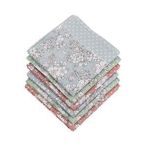 HOULIFE Femme Mouchoirs Tissu en Pur Coton 45 * 45cm Motif Massifs de Fleurs pour Usage Quotidien Lot de 3 Pièces