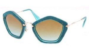 MIU MIU Lunettes de soleil MU 06OS NAO1F0 Turquoise/Chamois/Turquoise 53MM