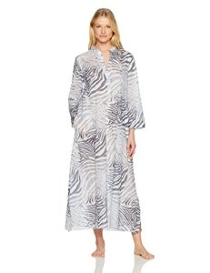 Natori Women's Printed Cotton Voile Lounger, Grey, Small