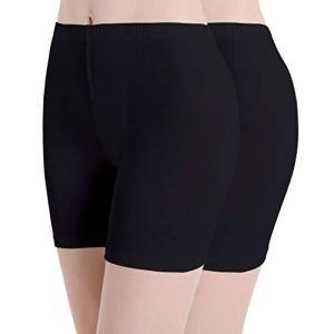 Pantalon Yoga Femme Shorts sous Jupe Legging Sport Fitness élastique Doux légers