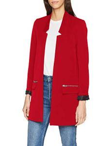Pimkie Manteau rouge léger col tailleur Femme – Taille M