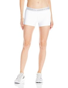 Under Armour – Shorty de Fitness pour Femme – UA HG, Femme, 1297899, White/White, XS