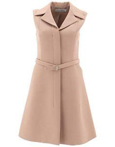Dior Femme 921R96a11664150 Beige Laine Robe