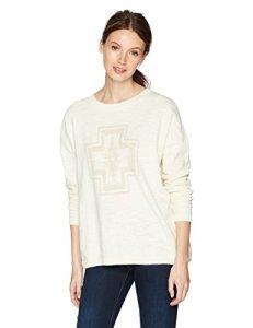 Pendleton Women's Harding Design Pullover Sweater, Ivory Tonal, SM