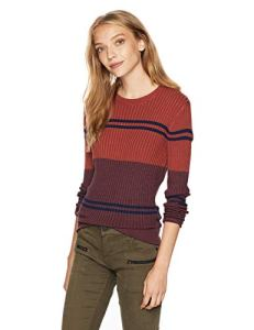 RVCA Junior's Even Fitted Sweater, Shady Blue, L