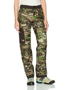 Under Armour Polaire pour Femme Super Mid Season Pantalon, Femme, Ridge Reaper Camo Fo (944)/Metallic Beige, Large