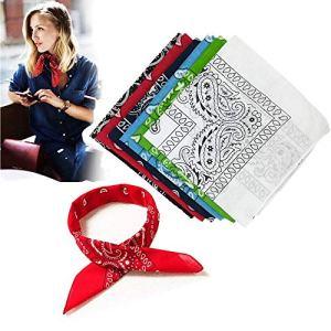 6 pièces Bandana Rouge Foulard Pure Coton Cheveux Bandeau Mouchoir Echarpe Cadeau Homme Femme multi-usages Dimensions 20.5 * 20.5inch