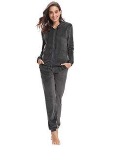 Abollria Survêtement Femme Ensembles Sportswear Sweat Capuche Suit Zipper Pull à Capuche avec Poches Casual Jogging