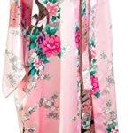 CCcollections Kimono Robe Longue 16 Couleurs Premium Paon Demoiselle d'Honneur Nuptiale Womens Cadeau (Rose Clair (Light Pink))