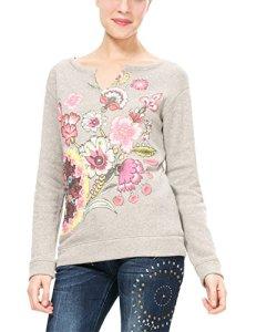 Desigual Sweat_Menorca Shirt, (Gris Vigore Claro 2042), 38 (Taille Fabricant: L) Femme