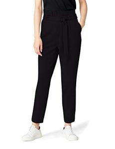 MERAKI Paula Paper Bag Pantalon, Noir Black), W38 (Taille fabricant: XXX-Large)