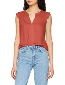 ONLY NOS Onlkimmi S/l Top WVN Noos Débardeur, Rouge Henna, 42 (Taille Fabricant: 40.0) Femme