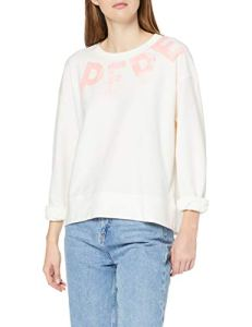 Pepe Jeans Primrose Sweat-Shirt, Blanc (Canvas White 810), Large (Taille Fabricant:L) Femme