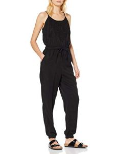 Superdry Reah Boho Jumpsuit Combinaison, Noir (Washed Black AFB), Medium (Taille Fabricant: 12) Femme