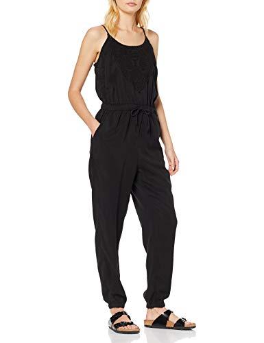Superdry Reah Boho Jumpsuit Combinaison, Noir (Washed Black AFB), Medium (Taille Fabricant: 12) Femme