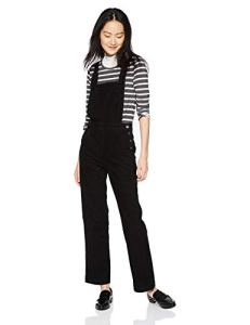 AG Adriano Goldschmied Women's Gwendolyn Straight Leg Overall, Sulfur Black, Small