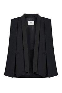 Blazers Femme Cape Blazer Châle Front Ouvert Bureau Veste Costume Outwear Noir M