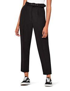 find. Pantalon à Pinces Court et Fuselé Femme, Noir (Black), W34/L32 (Taille fabricant:XL)