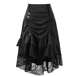 Holywin Rétro Jupe en Dentelle Noire pour Les Femmes Club De Mode Portent Gothique Punk Party de Vêtements