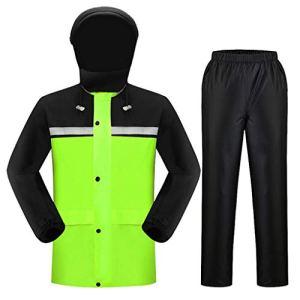 LYP-Rainwear Imperméable de Pluie Portable Imperméable Ensemble Type de Combinaison de Pluie Type de Split imperméable Respirant + Pantalon pour la Marche en Plein air à vélo (Taille : XL)