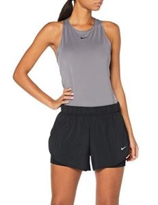 Nike W NK FLX 2in1 Short Woven Femme, Black-White, FR (Taille Fabricant : XL)