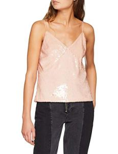 Pinko Adriano Pull sans Manche, Rose (Rosa Mogano Q35), 36 FR (Taille du Fabricant :40) Femme