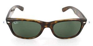 Ray-Ban Lunettes de Soleil, Unisexe, Adulte, 55 mm, Couleur de monture: Tortue/Verre:Vert(Polarized Green Classic G-15)