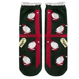 Tefamore Femmes Noël Chaussettes en Coton Chaussettes d'hiver de Femme Multi-Couleurs (H)