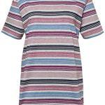 Ulla Popken Pyjama, Streifen Bunt Ensemble, Multicolore (Multicolor 90), (Taille Fabricant: 62+) Femme