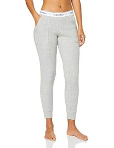 Calvin Klein Bottom Pant Jogger Pantalon De Sport, Gris (Grey Heather 020), Unique (Taille Fabricant: Small) Femme