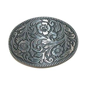 CTM Boucle de ceinture imprimé floral – Argenté – Taille unique