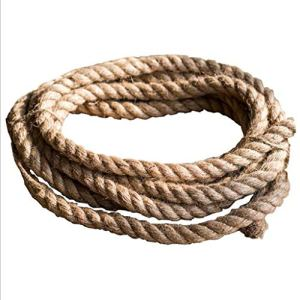 Gewi Corde de Jute Solide Ficelle de Jute Naturelle for Le Jardinage empaquetant la décoration de Camping (Brun) (Size : Brown Rope 6mm Diameter 10m)