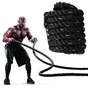 Gewi Corde Souple Corde Souple Noire Corde de Coton de 38 mm (3,8 m) (Size : 50mm x 15m)